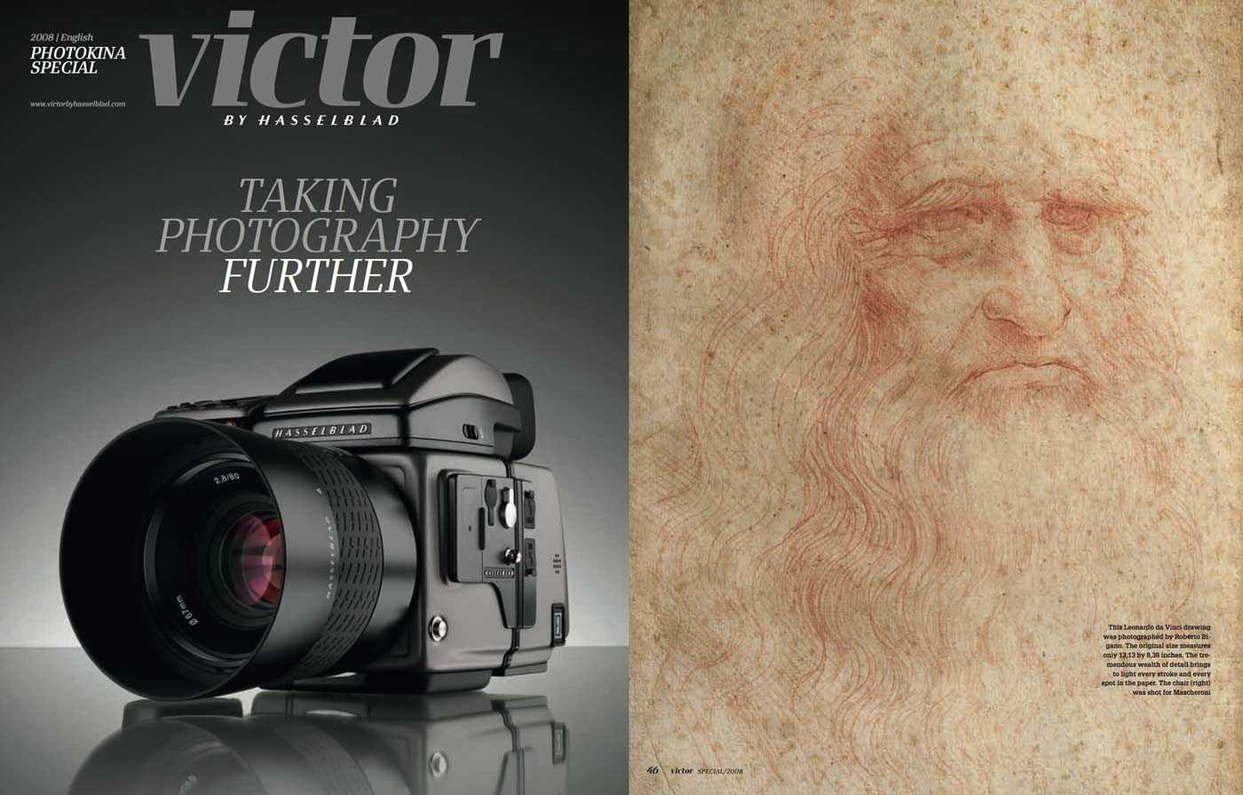 Leonardo's Self-Portrait for Victor by Hasselblad